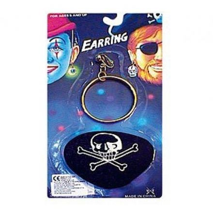 Pirate Eye Patch and Large Gold Earring
